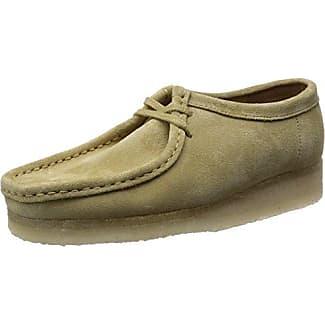 Wallabee - Zapato brogue de cuero mujer, color beige, talla 38 Clarks