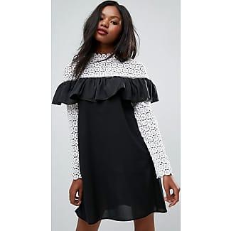 Club l maxi dress with metallic crochet top