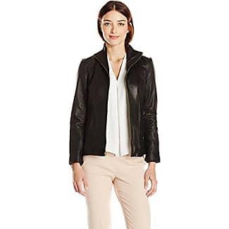 Cole haan men's black leather jacket
