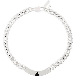 Coup de Coeur Pyramid Tag collar necklace - Metallic