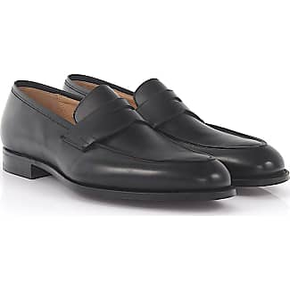 Penny loafer Crawford leather brown goodyear welted Crockett & Jones