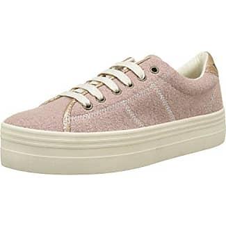 No NamePlato Sneaker Pink Twill P, Tiger - Botas de Caño bajo Mujer, Azul (Bleu (Navy Fox White)), 38 Desconocido
