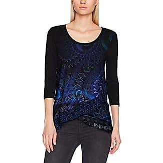 Timezone Knit Oversize t-Shirt-Camiseta Mujer Azul (Mood Indigo 3607) Medium