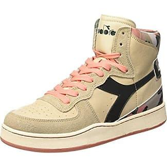 Mi Basket Camo - Zapatos Unisex Adulto, Beige Taupe/Verde Scuro, EU 38.5 (5.5 UK) Diadora