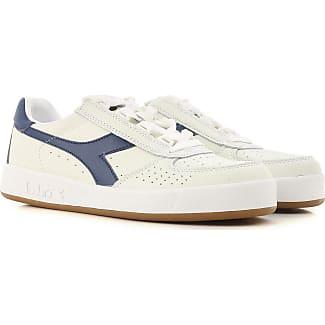 Diadora Mi Basket - Zapatillas de Piel para Mujer , Bianco/Bianco, EU 43 (9 UK)