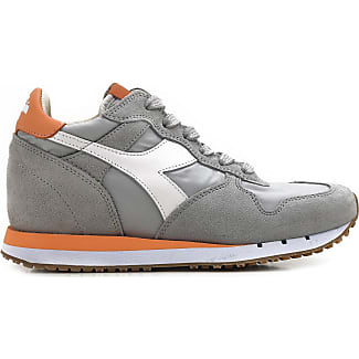 Sneakers for Women On Sale, Grey cobblestone, Suede leather, 2017, 5.5 Diadora