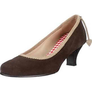 Diavolezza - Zapatos de cuero para mujer, color marrón, talla 42