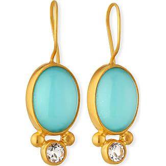 Dina Mackney Tigers Eye Pendant with Turquoise & Topaz
