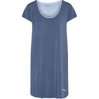 Dkny Woman Stretch-modal Jersey Nightdress Dark Gray Size M DKNY