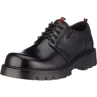 Dockers 115701-005001 115701-005001 - Zapatos de cordones de cuero para hombre, color negro, talla 46