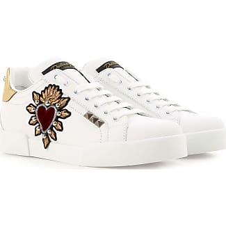 Sneakers for Women On Sale, White, Leather, 2017, 3 Dolce & Gabbana