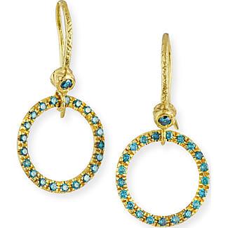 Dominique Cohen 18K Yellow Gold & Blue Diamond Huggie Hoop Earrings