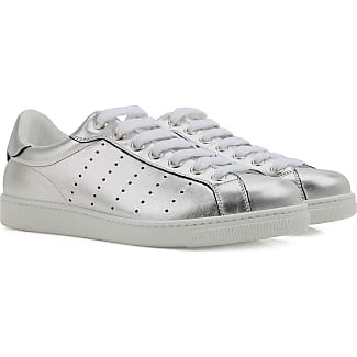 Sneakers for Men On Sale in Outlet, Santa Monica, Silver, Leather, 2017, 6.5 Dsquared2