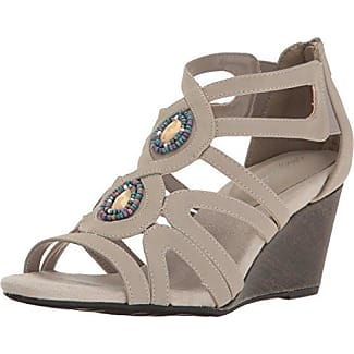 Easy Street Womens Unity Open Toe Casual Platform Sandals Grey Size 70