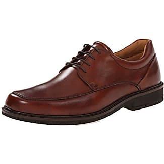 Ecco Holton - Zapatos con Cordones de Cuero, Hombre, Color Marrón, Talla 45