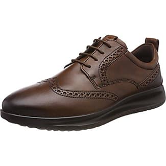 Ecco Lisbon, Zapatos de Cordones Brogue para Hombre, Marrón (Amber), 46 EU