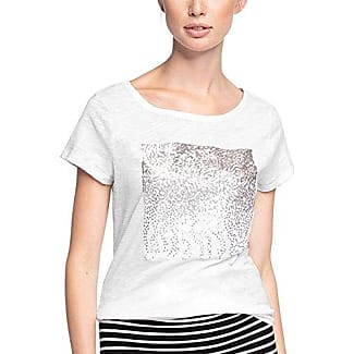 047cc1k068, T-Shirt Femme, Blanc (Off White), 36 (Taille Fabricant: Small)EDC by Esprit