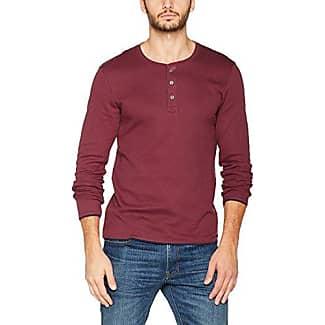 087cc2k016, T-Shirt à Manches Longues Homme, Rouge (Bordeaux Red 600), SmallEDC by Esprit