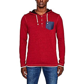 097cc2k015, Camisa Manga Larga para Hombre, Rojo (Red 630), Small EDC by Esprit
