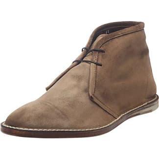 Elia Maurizi 6423_Marine - Zapatos de cordones de cuero para hombre, color azul, talla 42