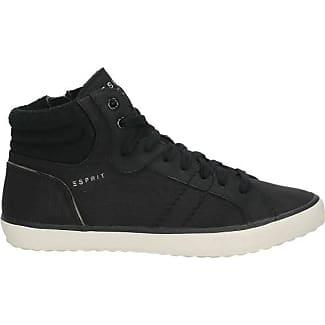 Esprit High Top-Sneaker im Metallic-Look für Damen, Größe 36, Black