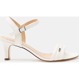 Esprit Sandalette mit Trichterabsatz, in Leder-Optik für Damen, Größe 37, White