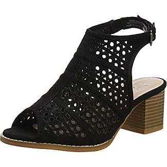 Brown Block Heel, Zapatos de Punta Descubierta para Mujer, Marrón (Brown), 42 EU (9 UK) EVANS