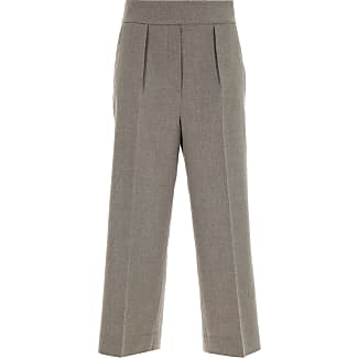 Pants for Women On Sale, Sand, Virgin wool, 2017, 24 26 30 Fabiana Filippi