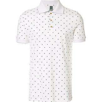 paisley print detail T-shirt - White Fefē