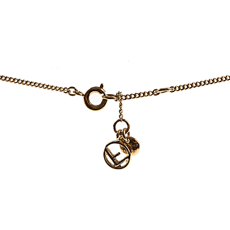 Fendi necklaces shop up to 40 stylight fendi necklaces yellow gold brass 2017 one size aloadofball Images