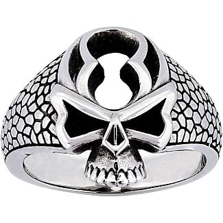 Metal Couture Colossal Sterling Silver Skull Ring - UK L 1/2 - US 5 7/8 - EU 52 1/4