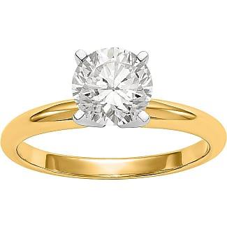 StyleRocks Princess Cut Diamond 9kt White Gold Ring - UK U - US 10 1/4 - EU 62 3/4