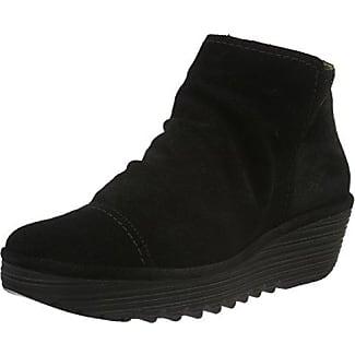 Fly London Mel Damen Schuhe Schließe Lederstiefel Military