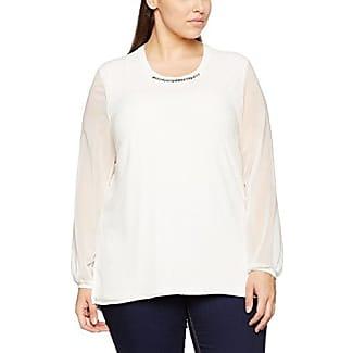 Frapp T-Shirt Rundhals 3/4 Arm Druck, Camiseta para Mujer, Multicolor (Offwhite Caviar Grey), 48