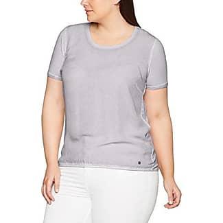 Frapp T-Shirt Rundhals 3/4 Arm Druck Motiv Materialmix, Camiseta para Mujer, Verde (Dryed Coriander), 48