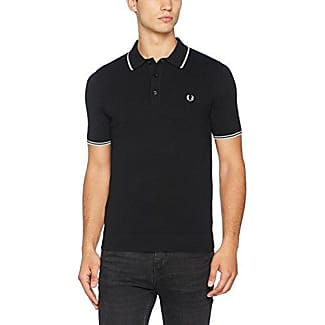 Fred Perry FP Tipped Knitted, Polo Homme, Noir, Medium
