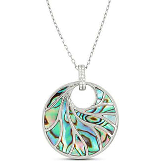 Frederic Sage Venus Abalone & Diamond Pendant Necklace