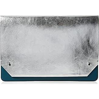 Contemp Slide Lock Josefina, Womens Clutch, Mehrfarbig (Silver/matte Black), 1.5x13x19 cm (B x H T) French Connection