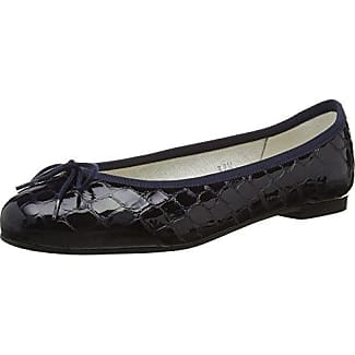 French SoleSimple Quilt-Patent Toe - Bailarinas Mujer, Color Negro, Talla 43