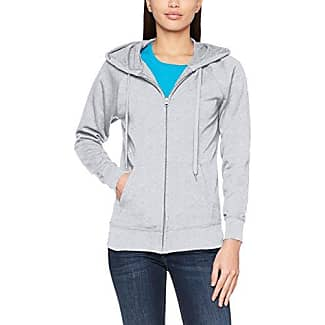 Fruit Of The Loom Ladies Lightweight Hooded Sweat, Sudadera para Mujer, Heather Grey, XL