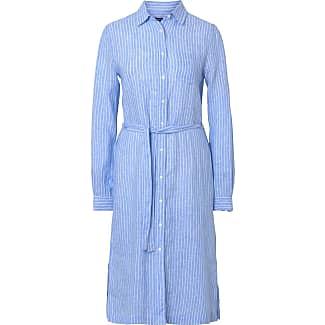 Gant kleid blau wei kariert