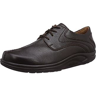 Ganter Eric, Weite I - Zapatos con Cordones de Cuero Hombre, Color Rojo, Talla 39