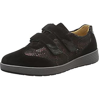 Ganter Sensitiv Klara, Weite K - Zapatillas para Mujer, Color Negro (Schwarz/Vino 0142), 40.5 EU