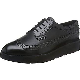 Geox D Marlyna C, Zapatos de Cordones Oxford para Mujer, Negro (Black), 38 EU