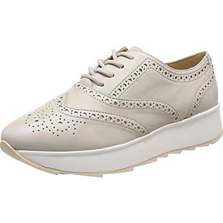 D Marlyna C, Zapatos de Cordones Oxford para Mujer, Beige (Beige/Off White), 36 EU Geox