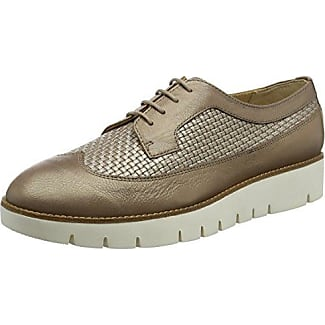 Geox D Thymar a, Zapatos de Cordones Oxford para Mujer, Beige (Beige/Lt Taupe), 35 EU