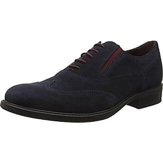 Geox Uomo Symbol a, Zapatos de Cordones Oxford para Hombre, Azul (Navy), 40 EU