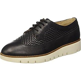 Geox D Marlyna C, Zapatos de Cordones Oxford para Mujer, Negro (Black), 36 EU