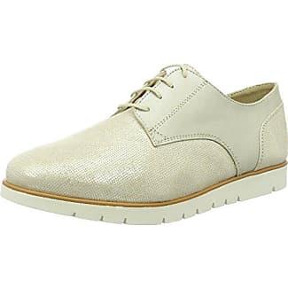Geox D Thymar a, Zapatos de Cordones Oxford para Mujer, Beige (Beige/Lt Taupe), 41 EU