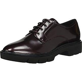 Geox D Marlyna C, Zapatos de Cordones Oxford para Mujer, Negro (Black), 36.5 EU